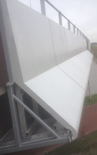 Construction inside panel fly-over - The Netherlands - concrete look