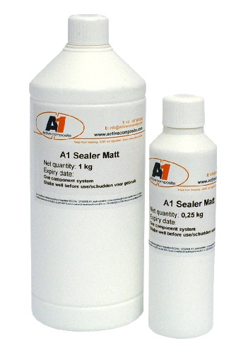 A1 Sealer (PLUS) Matt or A1 Sealer (PLUS) Satin - -  are water-borne coating systems to protect the A1 object from weather influences such as moisture and UV radiation.
